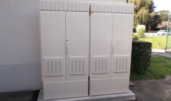 Premières mises en place d'armoires de Montée en Débit ADSL par Eure-et-Loir Numérique